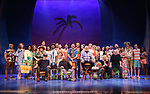 Jimmy Buffett with the cast and creative team during the Press Sneak Peak for the Jimmy Buffett  Broadway Musical 'Escape to Margaritaville' on February 15, 2018 at the Marquis Theatre in New York City.