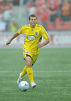 Alejandro Moreno (10) in action at BMO Field where the Toronto FC played hosts to the Columbus Crew on Saturday September 13, 2008. .The game ended in a 1-1 draw.