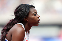 Asha Philip of Great Britain after competing in the womenís 100 metres during the Muller Anniversary Games at The London Stadium on 9th July 2017