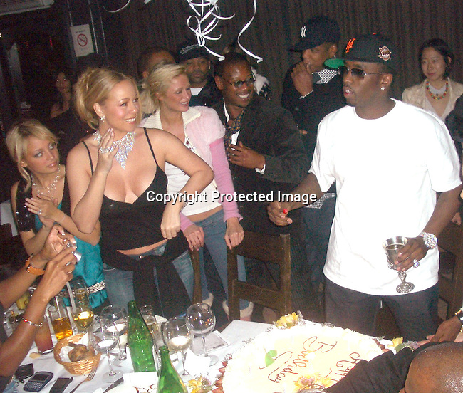 Nicole Richie, Mariah Carey, Paris Hilton, Damon Dash, Jay-Z, Andre Harrell and Sean P. Diddy Combs<br />