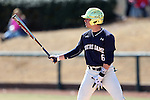 CARY, NC - MARCH 05: Notre Dame's Cole Daily. The Monmouth University Hawks played the University of Notre Dame Fighting Irish on March 5, 2017, at USA Baseball NTC Field 2 in Cary, NC in a Division I College Baseball game, and part of the Irish Classic tournament. Notre Dame won the game 4-0.
