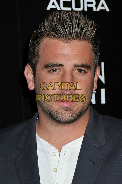 """JASON WAHLER.Gen Art, Blackberry and T-Mobile Present the 11th Annual """"Fresh Faces in Fashion"""" Show at the Peterson Automotive Museum, Los Angeles, California, USA, 10 October 2008..portrait headshot beard stubble facial hair .CAP/ADM/BP.©Byron Purvis/Admedia/Capital PIctures"""