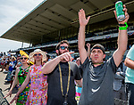June 8, 2019 : Fans cheer during a race on Belmont Stakes Festival Saturday at Belmont Park in Elmont, New York. Scott Serio/Eclipse Sportswire/CSM