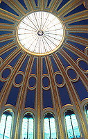 London: British Museum--Dome of Reading Room, 1857.  Wrought iron ribbed dome, diam. 140', same as Pantheon.