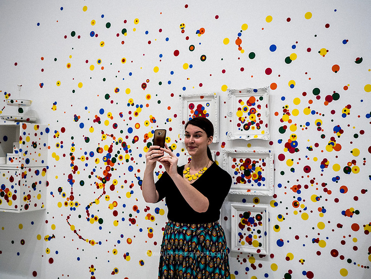 The Obliteration Room, 2002-present, Yayoi Kusama exhibit at the Hirshhorn Museum Washington DC 2017