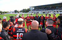 Poneke hooker Dane Coles talks to the team at halftime in the Wellington premier club rugby Swindale Shield match between Petone and Poneke at Petone Rec in Lower Hutt, New Zealand on Saturday, 25 May 2019. Photo: Dave Lintott / lintottphoto.co.nz