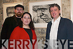 The Man from Clare: Thomas and Rebecca Delohery with Billy Keane at the official opening of the art exhibition which features works by Thomas Delohery based on the actor Richard Harris, which opened in St. Johns Listowel on Saturday night..
