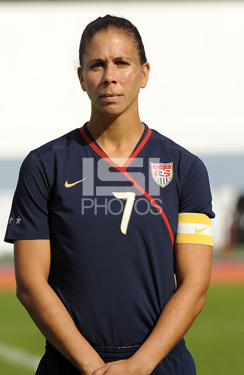 Shannon Boxx. The USWNT defeated Iceland (2-0) at Vila Real Sto. Antonio in their opener of the 2010 Algarve Cup on February 24, 2010.
