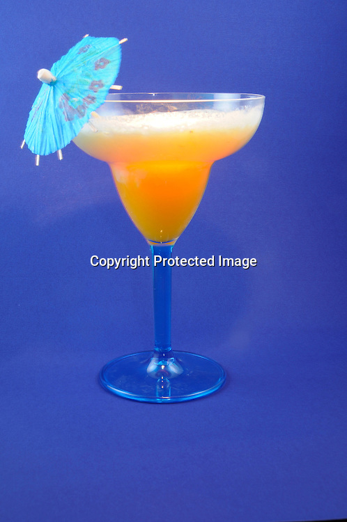 tropical Drink with Umbrellas