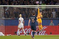 PARIS, FRANCE - JUNE 28: Alyssa Naeher #1 during a 2019 FIFA Women's World Cup France quarter-final match between France and the United States at Parc des Princes on June 28, 2019 in Paris, France.