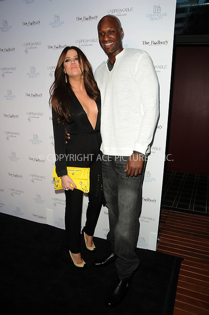 WWW.ACEPIXS.COM . . . . . ....April 4 2011, Los Angeles....Khloe Kardashian and Lamar Odom at the 'Unbreakable' Fragrance Launch at The Redbury on April 4, 2011 in Los Angeles, CA....Please byline: PETER WEST - ACEPIXS.COM....Ace Pictures, Inc:  ..(212) 243-8787 or (646) 679 0430..e-mail: picturedesk@acepixs.com..web: http://www.acepixs.com