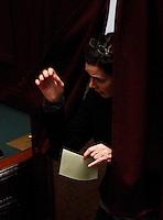 ELEZIONE PRESIDENTE DELLA CAMERA DEI DEPUTATI.NELLA FOTO LAURA BOLDRINI AL VOTO.FOTO CIRO DE LUCA