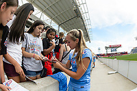 Bridgeview, IL - Saturday June 17, 2017: Fans, Summer Green during a regular season National Women's Soccer League (NWSL) match between the Chicago Red Stars and the Washington Spirit at Toyota Park. The match ended in a 1-1 tie.