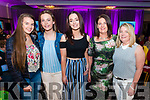 l-r Aoife O'Connor, Alan Gannon, Claudia Scanlon, Marie Scanlon and Helen Russell all from Asdee pictured at Miss Kerry 2017 contest in The Brehon Hotel, Killarney last Friday night.