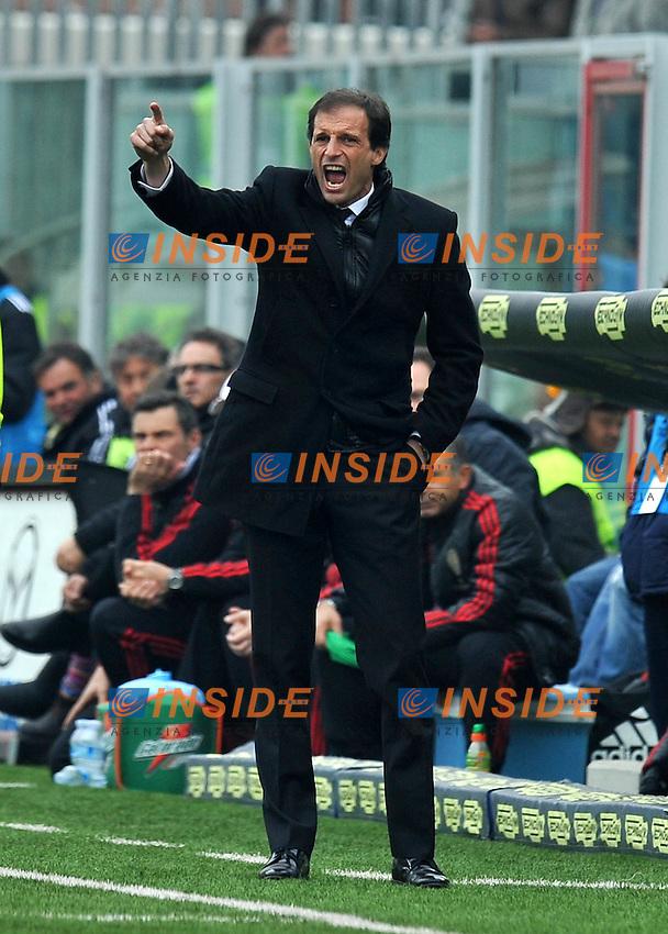 "Massimiliano ALLEGRI (Milan).Cesena 19/02/2012 Stadio ""Dino Manuzzi"".Serie A 2011/2012.Football Calcio Cesena Vs Milan.Foto Insidefoto Alessandro Sabattini."