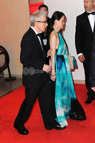Woody Allen and his wife Soon-Yi Previn at the Opening Gala Dinner during The 69th Annual Cannes Film Festival on May 11, 2016 in Cannes, France.<br /> CAP/LAF<br /> &copy;Lafitte/Capital Pictures /MediaPunch ***NORTH AND SOUTH AMERICAN SALES ONLY***