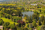 Aerial View of the Rhododendron Garden, SE Portland, Oregon