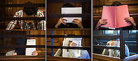 Berlin, Bildkombo zeigt am Montag (13.05.13) in Landgericht in Berlin vor dem Prozessbeginn im Fall Jonny K., sechs Angeklagte Männer im Alter zwischen 19 und 24 Jahren. Foto: Maja Hitij/CommonLens