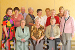 2323-2329.TEA DANCE: Enjoying the Sean Chairde Tea Dance in The Dromhall Hotel, Killarney, last Sunday. Front row l-r: Bernie OLeary, Killarney, Elaine Scully and Margaret Sweeney, Beaufort. Back row l-r: Abbey OSullivan, Dromid, Mary Walsh, Ballinskelligs, Tom Sharples, Cromane, Eileen McGillicuddy, Killorglin, Mary OSullivan, Glenbeigh, Nancy Hegarty, Killarney, Nell Kelleher, Castlemaine, Mary ORegan and Pauline Fleming, Sneem..