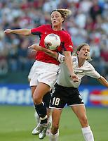 Abby Wambach,  Kerstin Garefreks, USA vs. Germany WWC 2003.