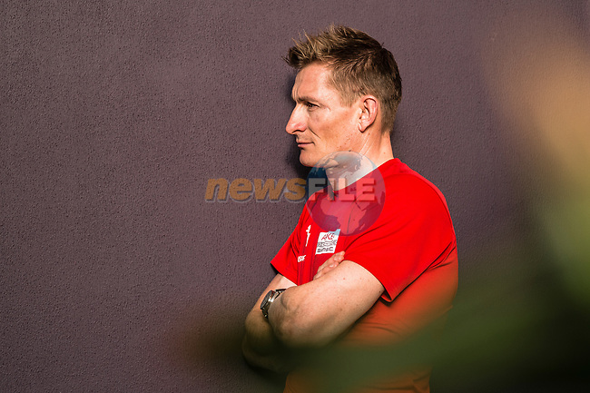 Andre Greipel (GER) Team Arkea Samsic at the top riders press conference before the start of 10th Tour of Oman 2019, Muscat, Oman. 15th February 2019.<br /> Picture: ASO/Kåre Dehlie Thorstad | Cyclefile<br /> All photos usage must carry mandatory copyright credit (© Cyclefile | ASO/Kåre Dehlie Thorstad)