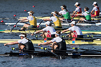 Sarasota. Florida  USA USA W2X. Bow. Meghan O'LEARY and Ellen TOMEK. in the mix with the run to the line ending, Silver Medalist. Sunday Final's Day at the  2017 World Rowing Championships, Nathan Benderson Park<br /> <br /> Sunday  01.10.17   <br /> <br /> [Mandatory Credit. Peter SPURRIER/Intersport Images].<br /> <br /> <br /> NIKON CORPORATION -  NIKON D500  lens  VR 500mm f/4G IF-ED mm. 200 ISO 1/1000/sec. f 7.1