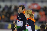 SPEED SKATING: CALGARY: Olympic Oval, 08-03-2015, ISU World Championships Allround, Marianne Timmer en Gianni Romme, ©foto Martin de Jong