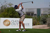 Thomas Detry (BEL) on the 2nd during the Pro-Am of the Commercial Bank Qatar Masters 2020 at the Education City Golf Club, Doha, Qatar . 04/03/2020<br /> Picture: Golffile   Thos Caffrey<br /> <br /> <br /> All photo usage must carry mandatory copyright credit (© Golffile   Thos Caffrey)
