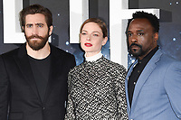 Jake Gyllenhaal, Rebecca Ferguson and Ariyon Bakare<br /> at the photocall for the film &quot;Life&quot;, Corinthia Hotel, London.<br /> <br /> <br /> &copy;Ash Knotek  D3242  16/03/2017