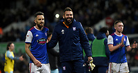 Ipswich Town's Cole Skuse and  Bartosz Bialkowski all smiles after the match <br /> <br /> Photographer Hannah Fountain/CameraSport<br /> <br /> The EFL Sky Bet Championship - Ipswich Town v Rotherham United - Saturday 12th January 2019 - Portman Road - Ipswich<br /> <br /> World Copyright &copy; 2019 CameraSport. All rights reserved. 43 Linden Ave. Countesthorpe. Leicester. England. LE8 5PG - Tel: +44 (0) 116 277 4147 - admin@camerasport.com - www.camerasport.com