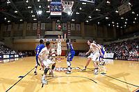 SAN ANTONIO, TX - JANUARY 11, 2012: The Texas A&M University Corpus Christi Islanders vs. The University of Texas at San Antonio Roadrunners Men's Basketball at the UTSA Convocation Center. (Photo by Jeff Huehn)