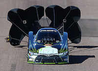 Feb 26, 2016; Chandler, AZ, USA; NHRA funny car driver Alexis DeJoria during qualifying for the Carquest Nationals at Wild Horse Pass Motorsports Park. Mandatory Credit: Mark J. Rebilas-