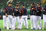 (L to R) .Masahiro Tanaka (JPN), .Yuichi Honda (JPN), .Hayato Sakamoto (JPN), .Kenta Maeda (JPN), .MARCH 6, 2013 - WBC : .2013 World Baseball Classic .1st Round Pool A .between Japan 3-6 Cuba .at Yafuoku Dome, Fukuoka, Japan. .(Photo by YUTAKA/AFLO SPORT)