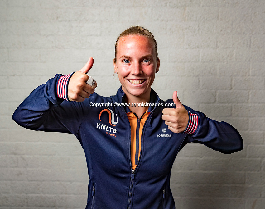 Den Bosch, The Netherlands, Februari 8, 2019,  Maaspoort , FedCup  Netherlands - Canada, Draw, Richel Hogenkamp (NED)<br /> Photo: Tennisimages/Henk Koster