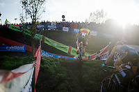 Sven Nys (BEL/Crelan-AAdrinks) leading the way<br /> <br /> Jaarmarktcross Niel 2014