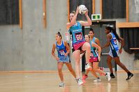 Steel's Abby Enwood in action during the Netball Pre Season Tournament - Mystics v Steel at Ngā Purapura, Otaki, New Zealand on Saturday 9 February  2019. <br /> Photo by Masanori Udagawa. <br /> www.photowellington.photoshelter.com