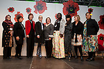 A group photograph at the Women's Leadership on Climate Justice - A Global Perspective. December 14, 2009.  (l-r) Rehana Bibi Khilji, Lorena Aguilar, Mary Robinson, Ritt Bjerregaard, Shelia Watt-Cloutier, Constance Okollet, Musical Guest, Elisabeth Møller Jensen, and Ulamila Kurai Wragg.  (Images free for Editorial Web usage for Fresh Air Participants during COP 15. Credit: Robert vanWaarden)