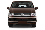 Car photography straight front view of a 2016 Volkswagen Caravelle Comfortline 5 Door Minivan Front View