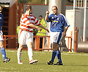 04/09/2004   Copyright Pic : James Stewart.File Name : jspa10_hamilton_v_stjohnstone.KEVIN FOTHERINGHAM HAS A WORD WITH RYAN BLACKADDER AFTER A HIGH CHALLENGE....Payments to :.James Stewart Photo Agency 19 Carronlea Drive, Falkirk. FK2 8DN      Vat Reg No. 607 6932 25.Office     : +44 (0)1324 570906     .Mobile  : +44 (0)7721 416997.Fax         :  +44 (0)1324 570906.E-mail  :  jim@jspa.co.uk.If you require further information then contact Jim Stewart on any of the numbers above.........