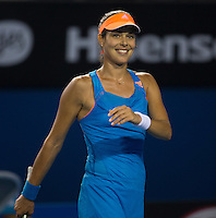 ANA IVANOVIC (SRB)<br /> <br /> Tennis - Australian Open - Grand Slam -  Melbourne Park -  2014 -  Melbourne - Australia  - 15th January 2013. <br /> <br /> &copy; AMN IMAGES, 1A.12B Victoria Road, Bellevue Hill, NSW 2023, Australia<br /> Tel - +61 433 754 488<br /> <br /> mike@tennisphotonet.com<br /> www.amnimages.com<br /> <br /> International Tennis Photo Agency - AMN Images