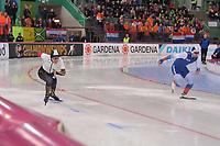 SPEEDSKATING: HAMAR: Vikingskipet, 28-02-2020, ISU World Speed Skating Championships, Sprint, 500m Men, Daichi Yamanaka (JPN), Ruslan Murashov (RUS), ©photo Martin de Jong