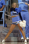 05 November 2014: UNC cheerleader. The University of North Carolina Tar Heels hosted the Carson-Newman University Eagles at Carmichael Arena in Chapel Hill, North Carolina in an NCAA Women's Basketball exhibition game. UNC won the game 88-27.