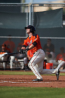San Francisco Giants Matt Winn (12) during an instructional league game against the Oakland Athletics on October 12, 2015 at the Giants Baseball Complex in Scottsdale, Arizona.  (Mike Janes/Four Seam Images)