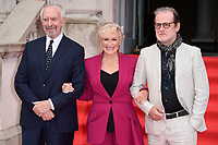 "Jonathan Pryce, Glenn Close and director, Bjorn Runge<br /> arriving for the premiere of ""The Wife"" at Somerset House, London<br /> <br /> ©Ash Knotek  D3418  09/08/2018"