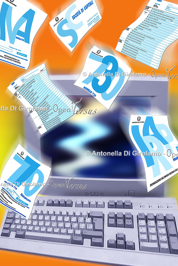 Pagamento delle tasse on line. Payment of taxes online.....