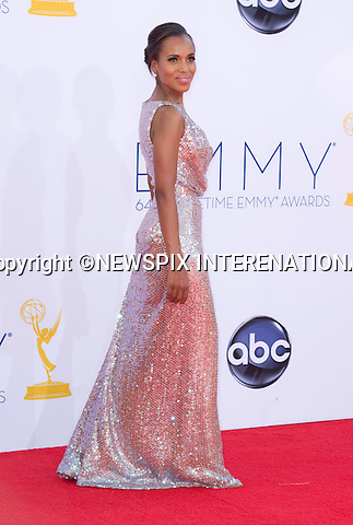 "KERRI WASHINGTON - 64TH PRIME TIME EMMY AWARDS.Nokia Theatre Live, Los Angelees_23/09/2012.Mandatory Credit Photo: ©Dias/NEWSPIX INTERNATIONAL..**ALL FEES PAYABLE TO: ""NEWSPIX INTERNATIONAL""**..IMMEDIATE CONFIRMATION OF USAGE REQUIRED:.Newspix International, 31 Chinnery Hill, Bishop's Stortford, ENGLAND CM23 3PS.Tel:+441279 324672  ; Fax: +441279656877.Mobile:  07775681153.e-mail: info@newspixinternational.co.uk"