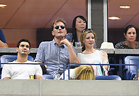 FLUSHING NY- SEPTEMBER 04: ***NO NY DAILIES*** Actor Michael Shannon watches from a suite during a match on Arthur Ashe Stadium during the US Open at the USTA Billie Jean King National Tennis Center on September 4, 2017 in Flushing Queens.Credit: mpi04/MediaPunch