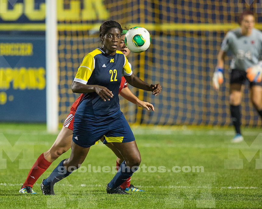 The University of Michigan women's soccer team played Wisconsin to a 0-0 tie at the UM Soccer Complex in Ann Arbor, Mich., on September 27, 2013.