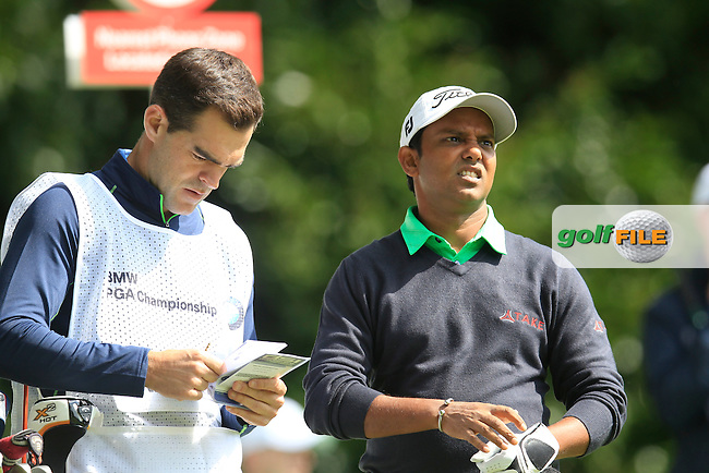 S.S.P CHOWRASIA (IND) during round 1 of the 2015 BMW PGA Championship over the West Course at Wentworth, Virgina Water, London. 21/05/2015<br /> Picture Fran Caffrey, www.golffile.ie: