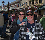 Janice and Dan Kelsoe during the World Championship Outhouse Races in Virginia City, Nevada on Sunday, Oct. 8, 2017.